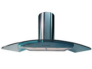 "36"" Range Hood Curved Blue Glass Wall Mount SSteel KA-148 NT AIR"