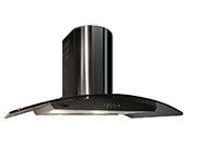 "36"" Range Hood Designer Glass Stainless Steel Wall KA-148 NT AIR"