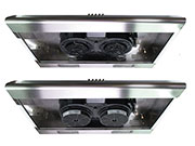 Twin Motor/Fan 120V for Range Hood STD-100 NT Air Made in Italy